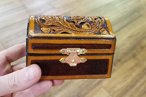 Handmade Leather Treasure Box