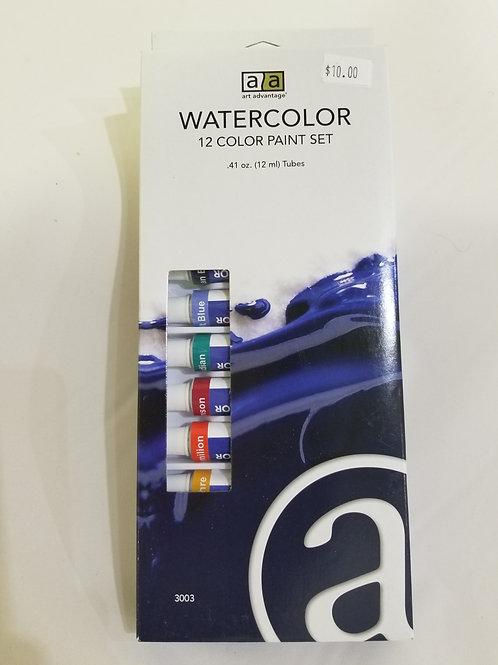 Art Advantage 12-Color Watercolor Paint Set