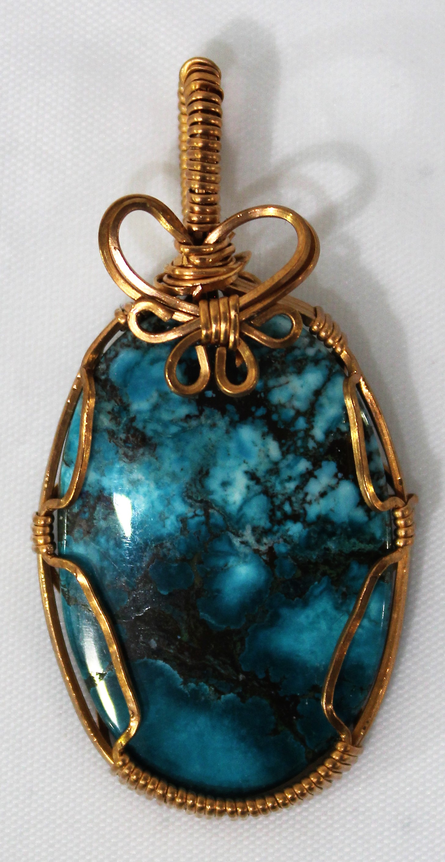 Tibetan Turquoise Pendant, by Lucy Young