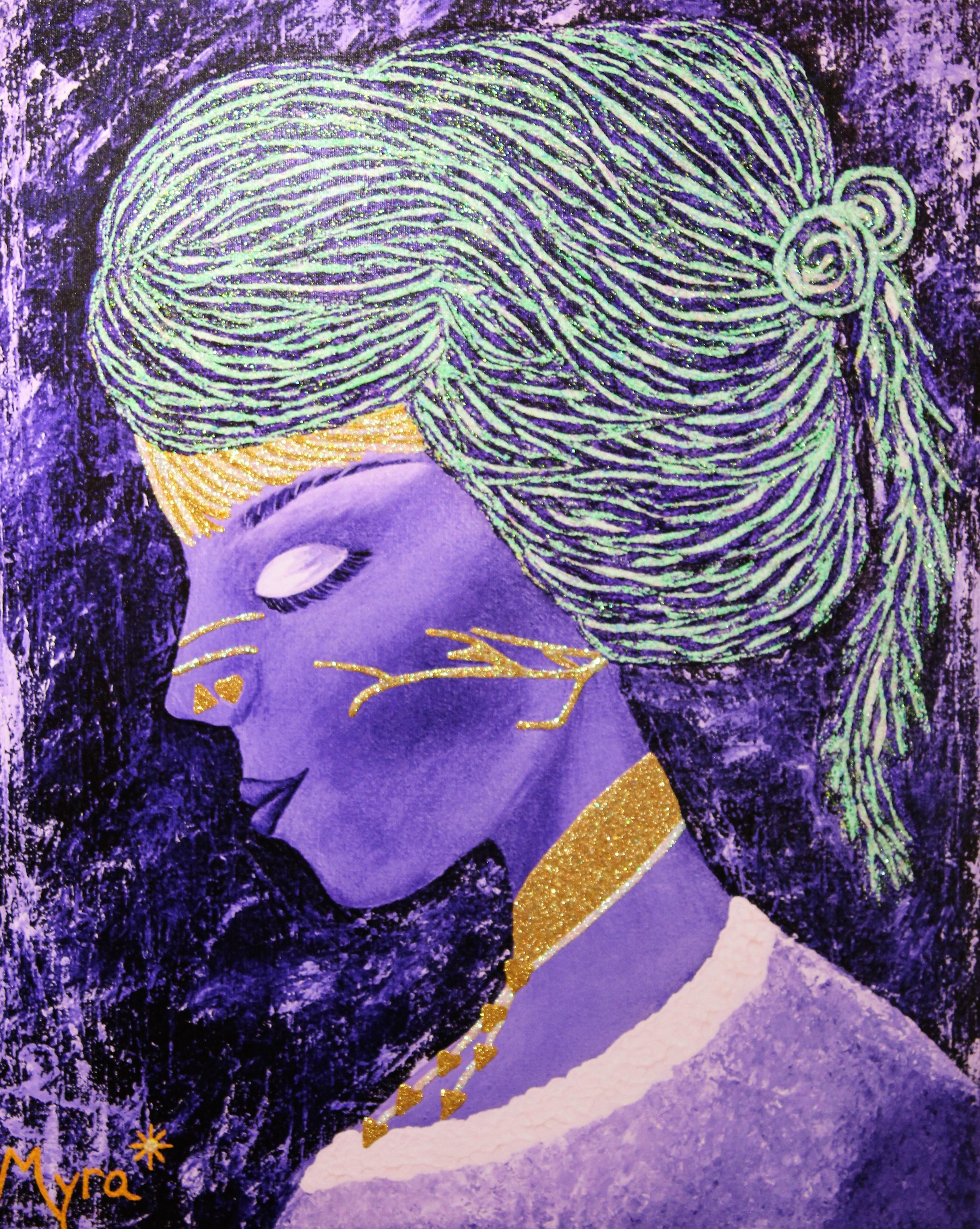 Om Shanti Shanti Giclee by Myra Schutt