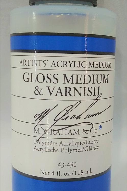 Graham Acrylic Gloss Medium & Varnish 4 fl oz