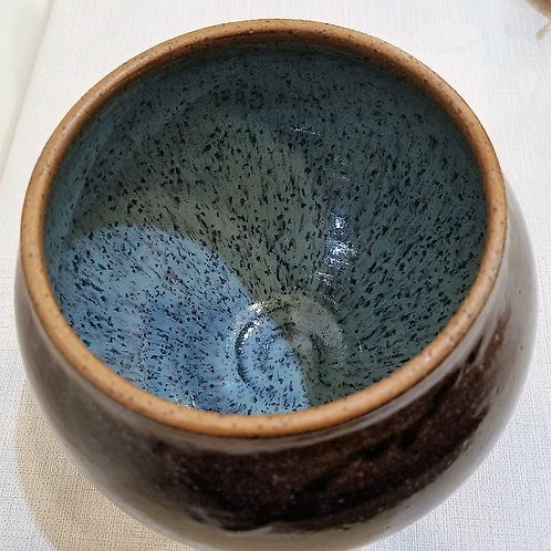 """Evening Sun Spire"" Ceramic Bowl with Lid"