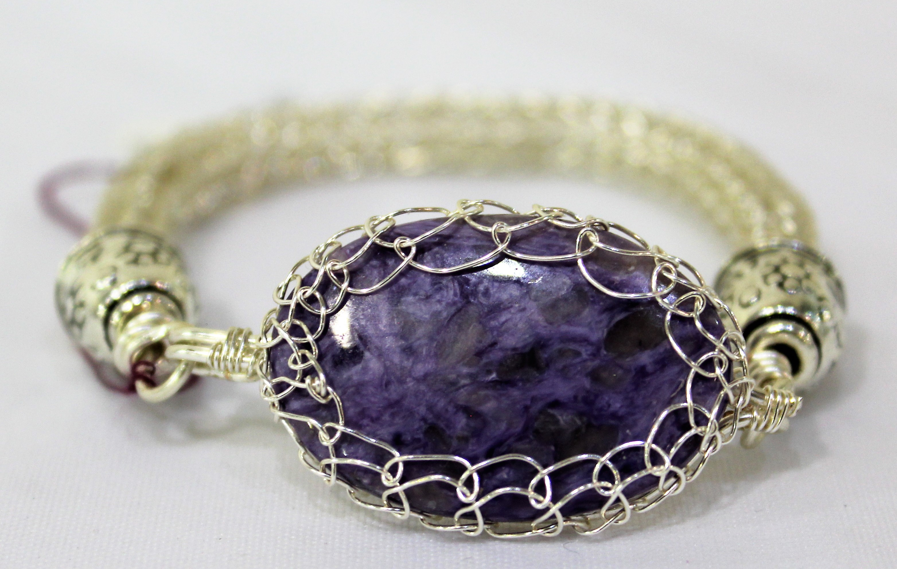 Charoite and Silver Bracelet, by Lucy Young