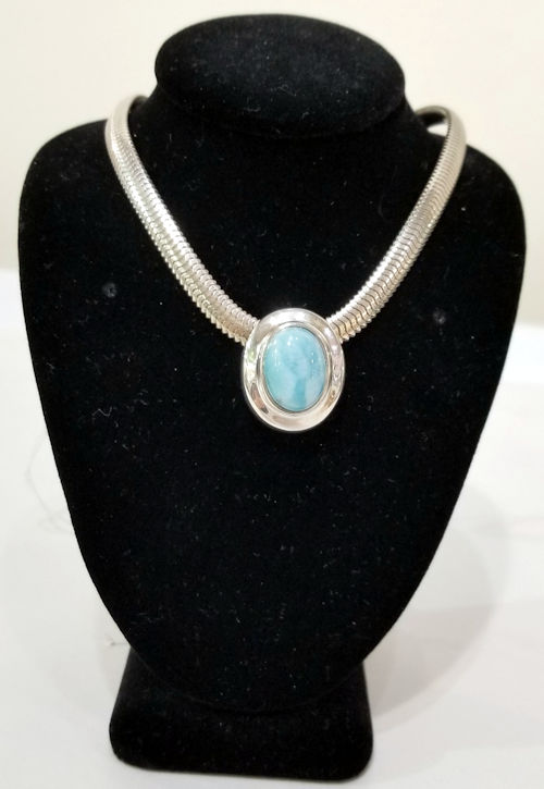 Larimar Pendant by Gary James