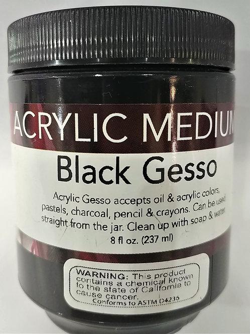 Acrylic Medium-Black Gesso 8 fl oz