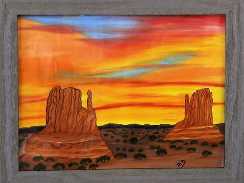 """Sunrise Monument Valley, AZ"" Oil Painting"