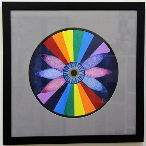 """6th Chakra"" Colored Pencil Wall Hanging"