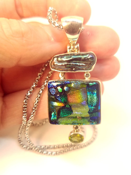 Diochroic Glass Necklace