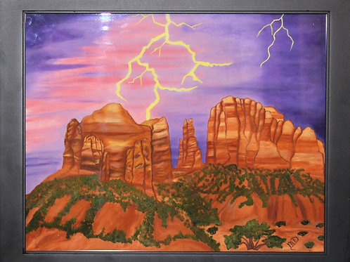 """Storm Clearing over Cathedral Rock, Sedona, AZ"" Oil Painting"