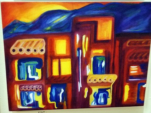 """Spirit of Taos Pueblo"" Giclee on Canvas"