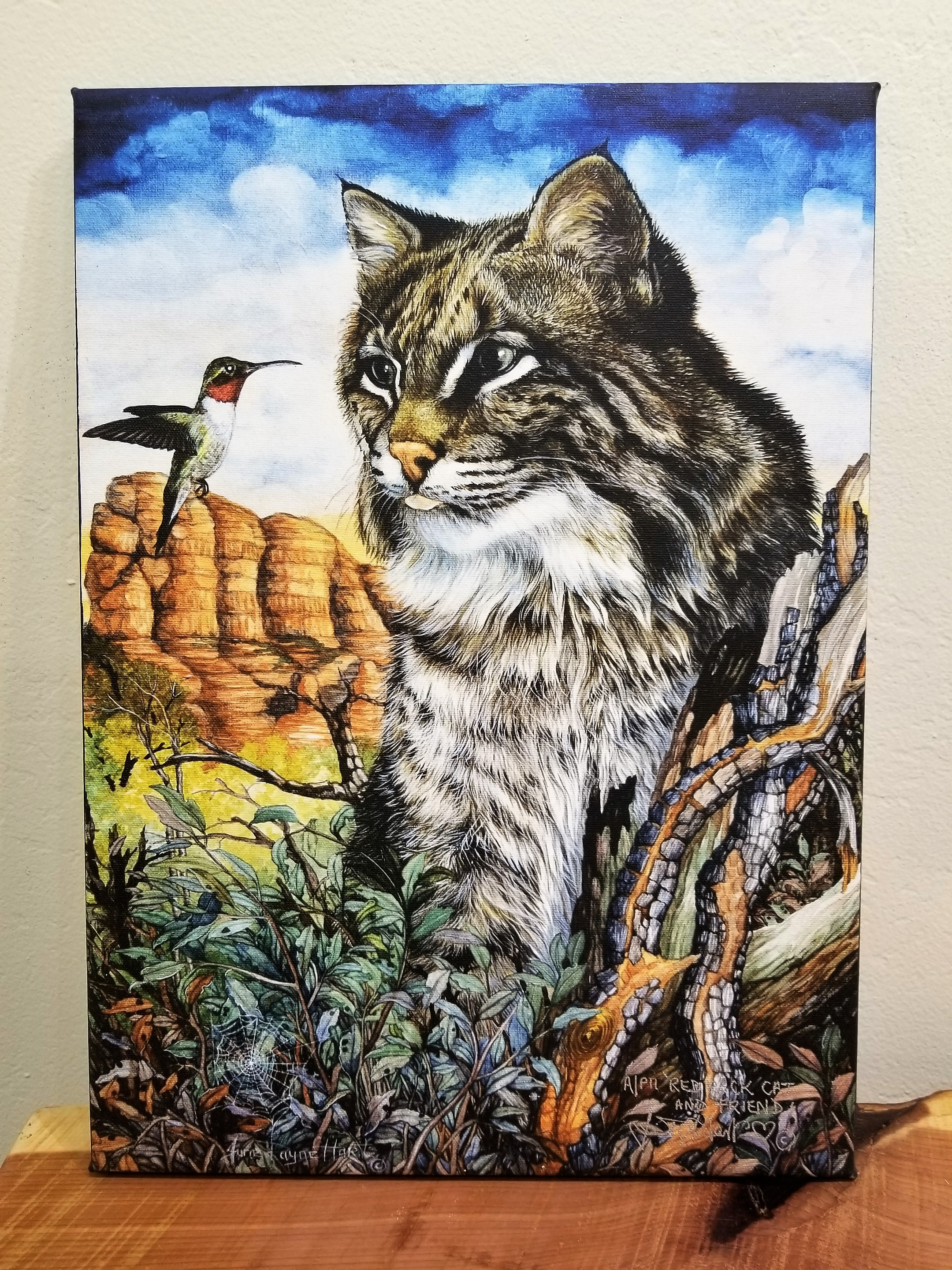 Red Rock Cat and Friend, June Payne Hart