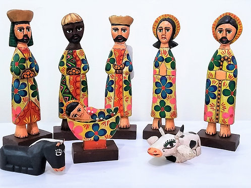 Hand-Carved Mayan Nativity Set