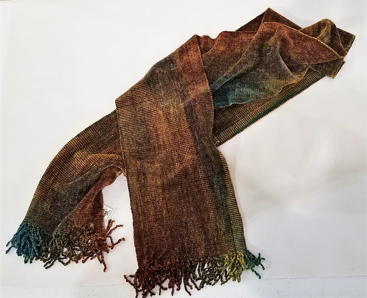 Mayan Hand-Dyed and Hand-Woven Bamboo Scarves