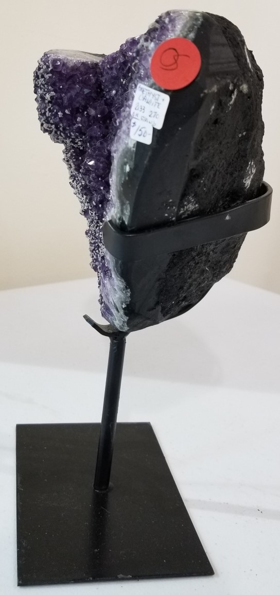 Amethyst with Calcite, by Arizona Agate