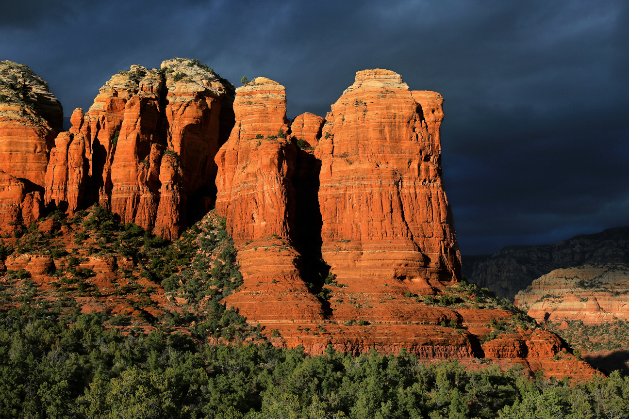Coffee Pot Rock at Sunset, Sedona, by Mike Koopsen