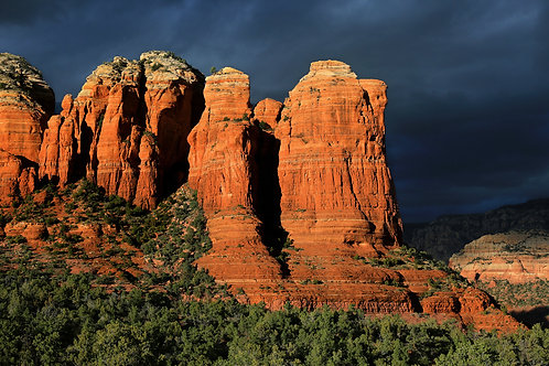 Coffee Pot Rock at Sunset, Sedona