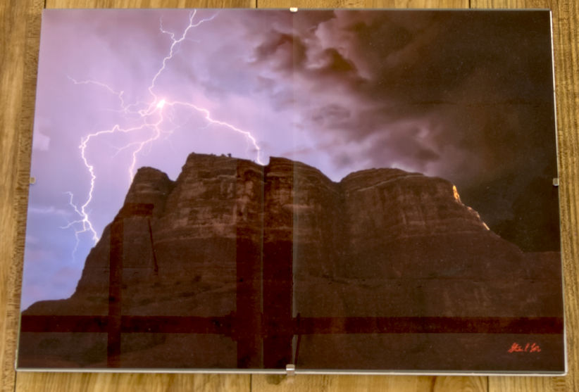 Spider Lightning over Sedona's Courthouse Butte HDR Photograph by Steve Love