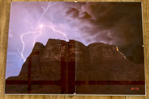 """Spider Lightning over Sedona's Courthouse Butte"""