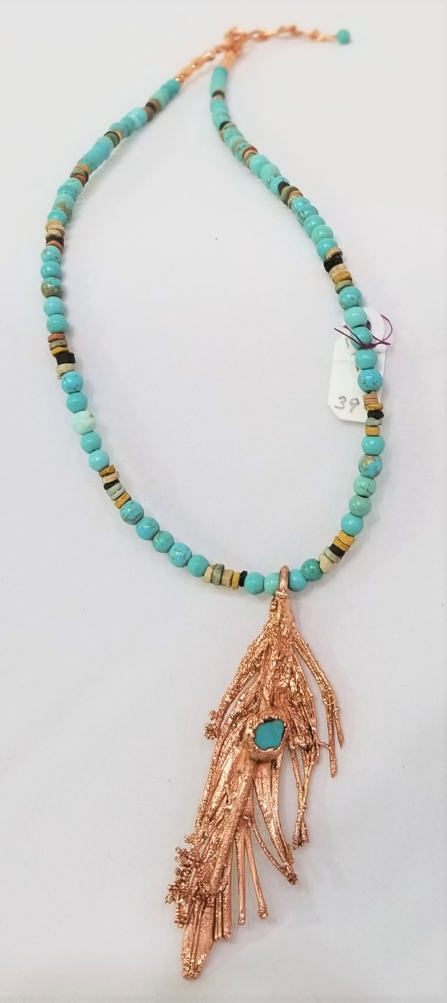 Copper Electroform Necklace, by Sylvia Farrell