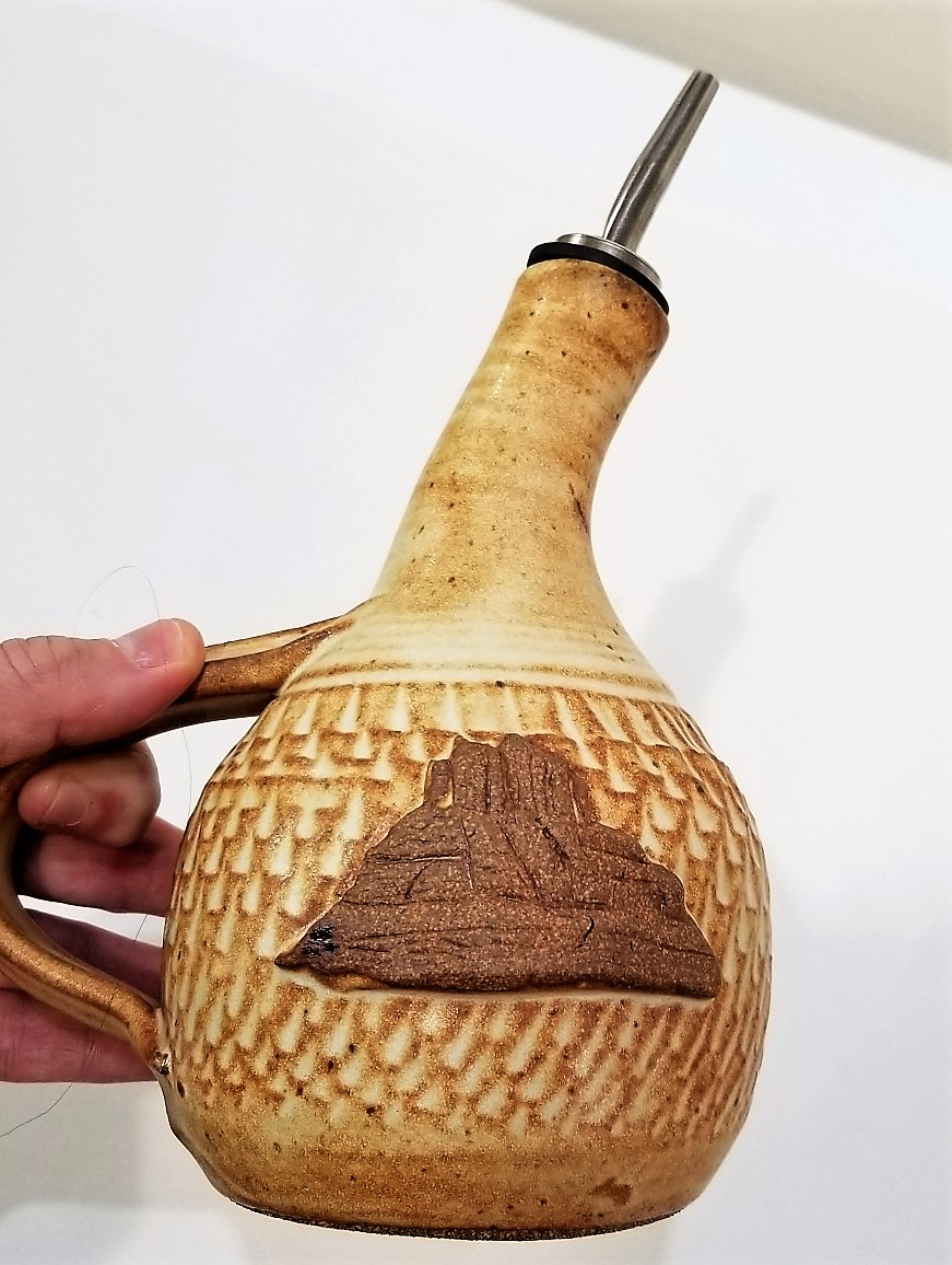 Handmade Ceramic Olive Oil Dispenser by Ken Barnes