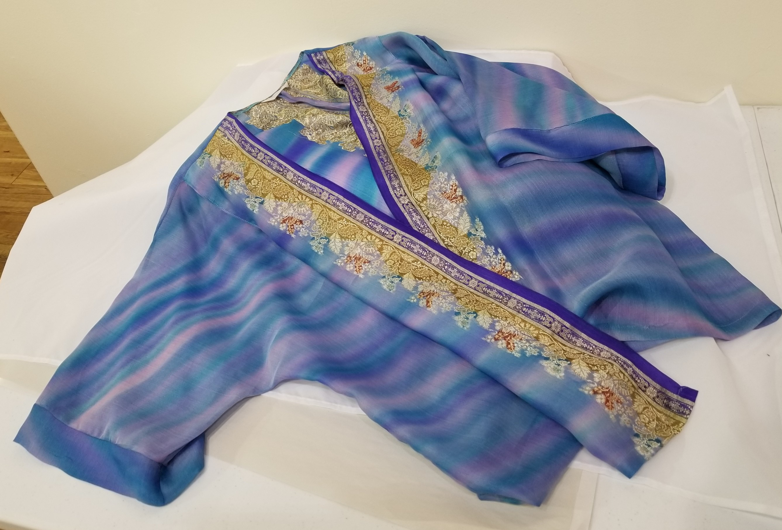 Blue Silk Jacket, by Sylvia Farrell
