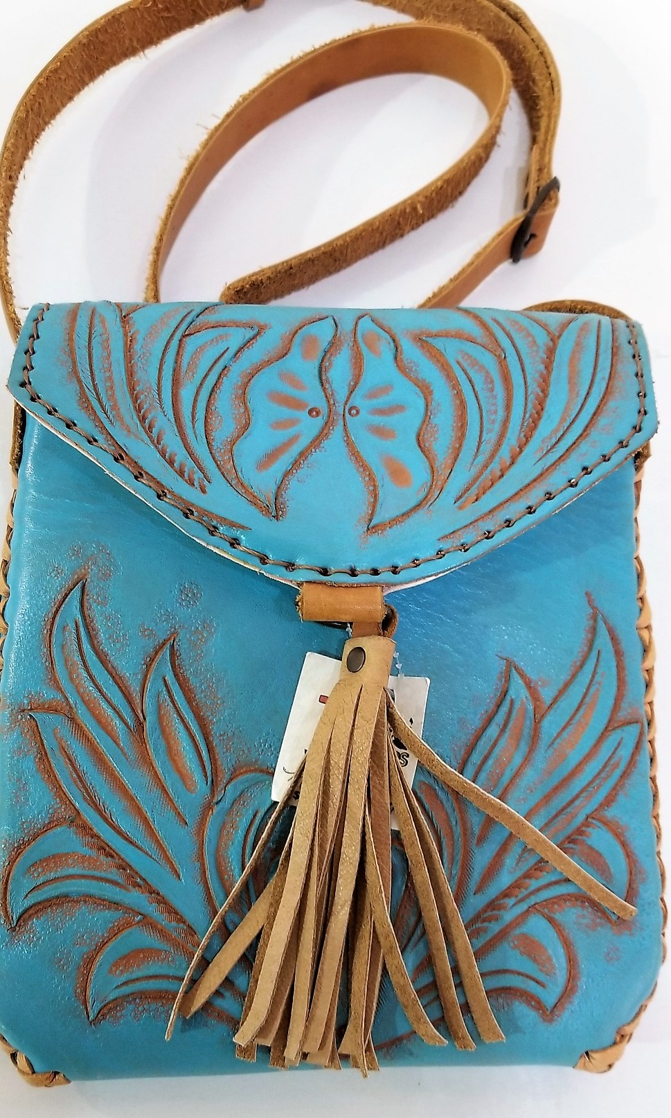Mayan Hand-Tooled Leather Bag