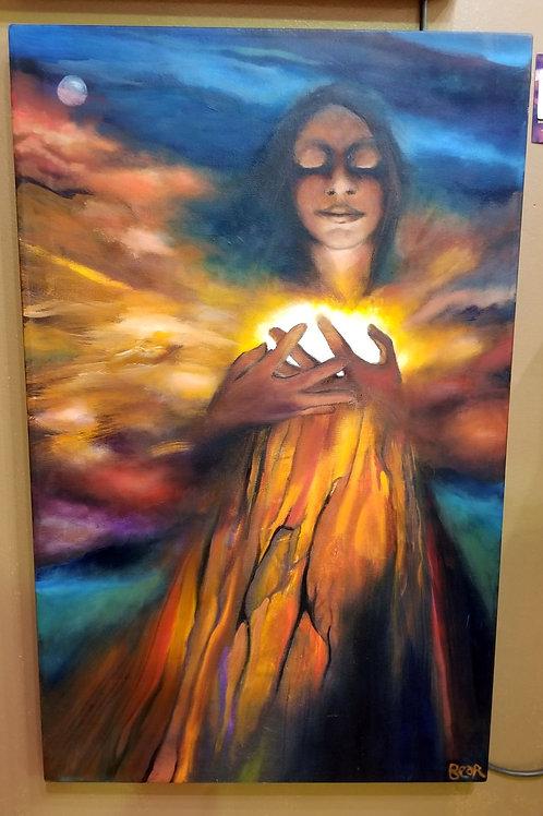"""Light Keeper"" Oil on Canvas"