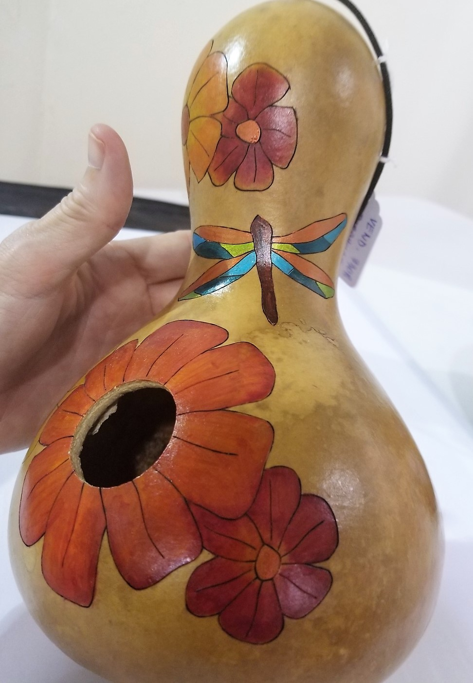 Painted Flower Gourd Birdhouse, by Stephen and Jodi Imms