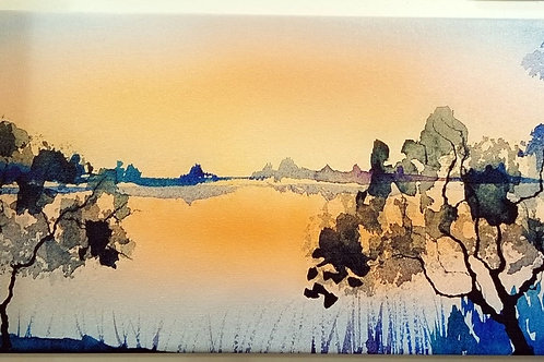 """""""Sunset at the Lake"""" Archival Giclee on Canvas"""