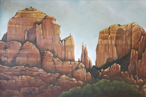 """""""Cathedral Rock"""" Acrylic on Canvas"""