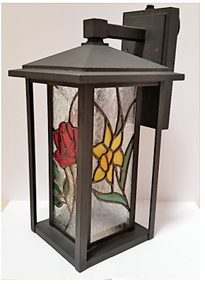 Stained Glass Patio Light, by Jan Jones