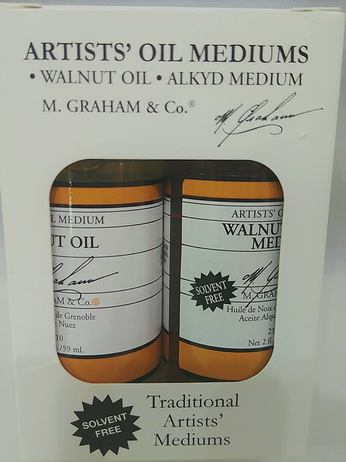 Graham Walnut Oil and Alkyd Painting Medium Set 2 fl oz (59ml)