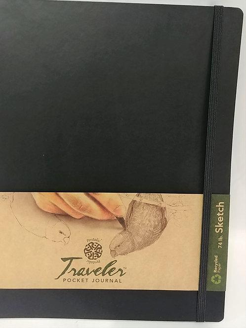"""Pentalic Traveler Pocket SKETCH Journal 8""""x6"""" 74 lb 160 pages"""