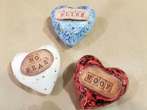 Ceramic Message Hearts