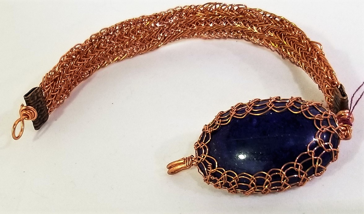 Lapis and Copper Bracelet, by Lucy Young
