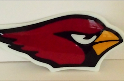 AZ Cardinal Stained Glass Snack Plate