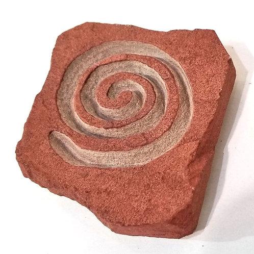 Etched Sandstone Spiral