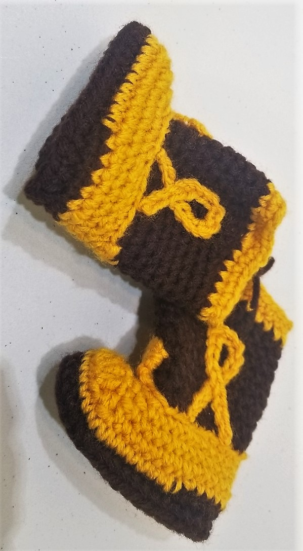 Hand-Knitted Baby Booties, by Mary Nordstrom