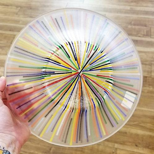 Striped Glass Bowl