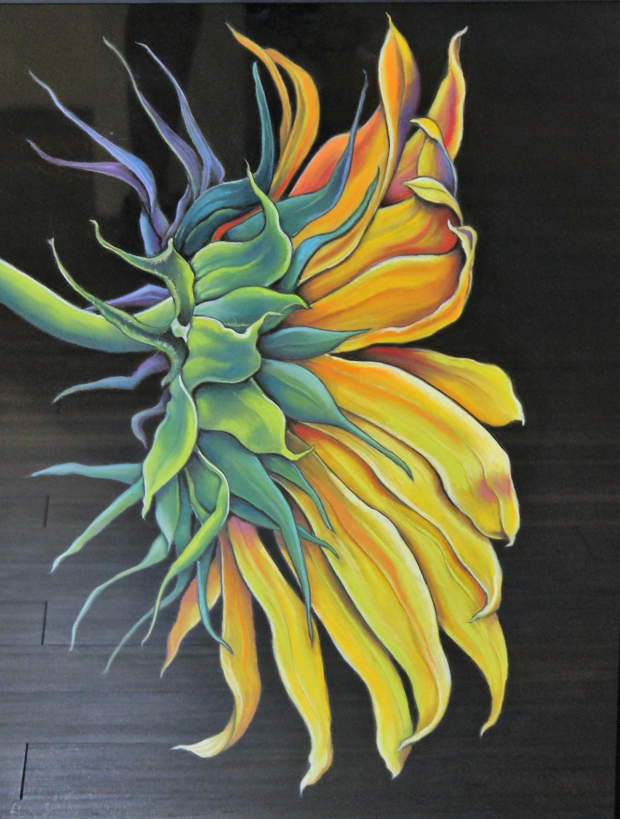 """Constance's Flower"" Pastel by Elly Sands"