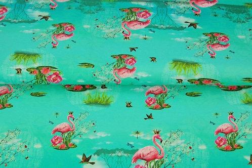 Stenzo flamingo bedrukking 14euro/meter