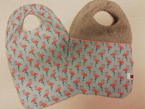 een set slabbetjes met flamingo II