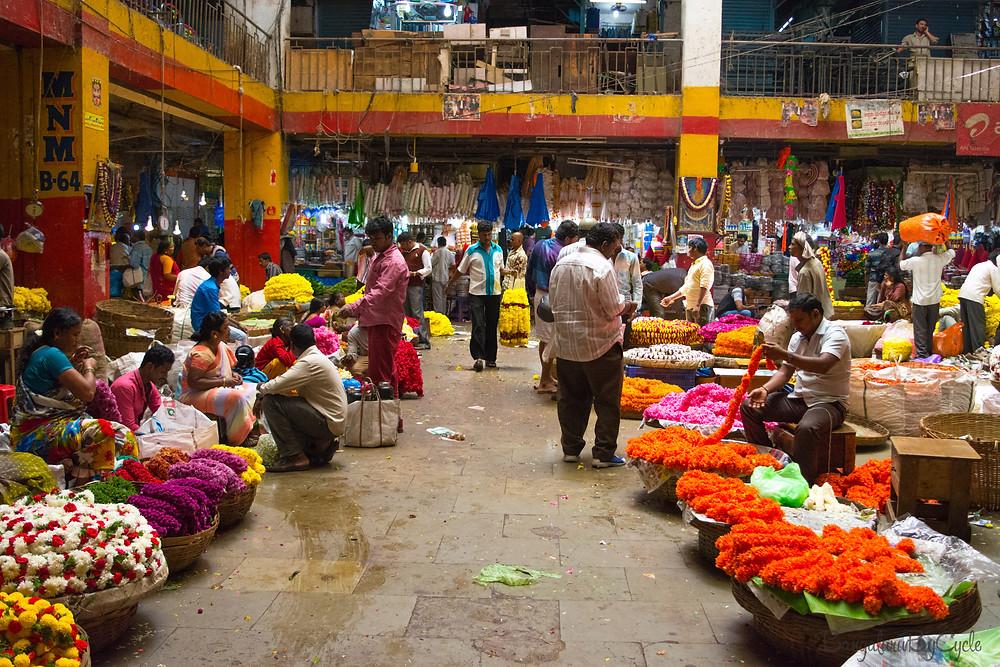 Flower Market, KR Market, Bengaluru
