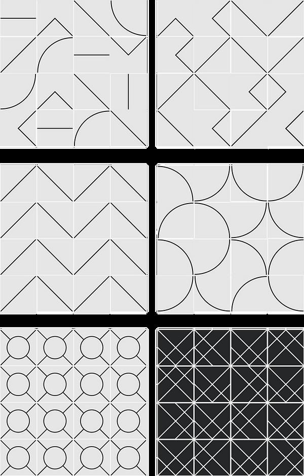 Ideia de Paineis - Azulejo Piso Geométrico