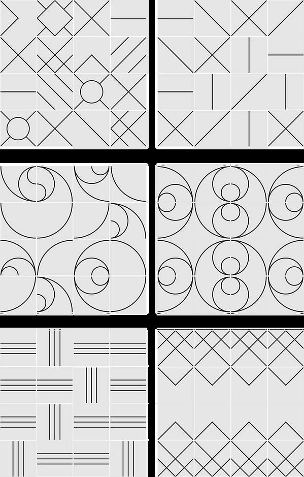 Ideias de Paineis - Azulejo Piso Geométrico