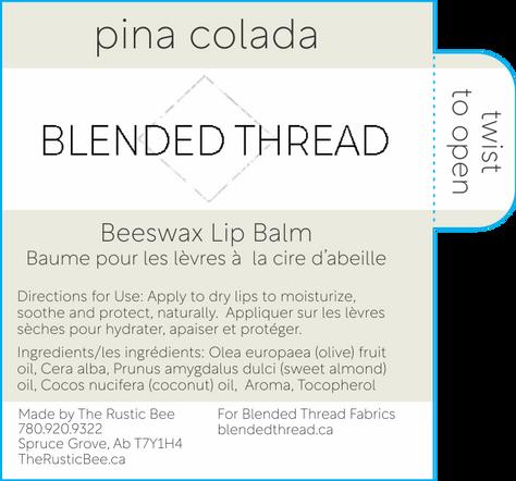 Blended Thread Pina Colada Lip Balm cutl