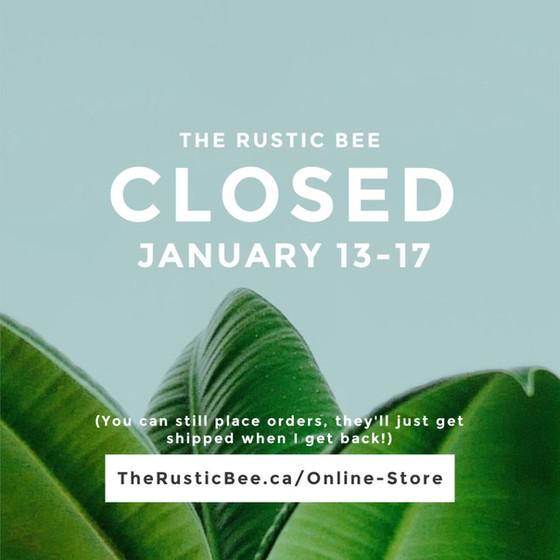 Closed Jan 13-17