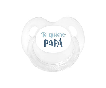 Chupete Retro Te quiero Papá Azul