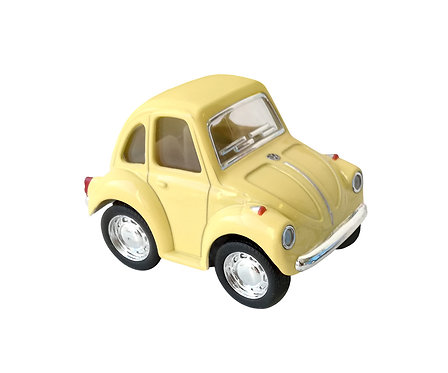 """Mini Coche Juguete """"Little Beetle"""" Classical Amarillo"""