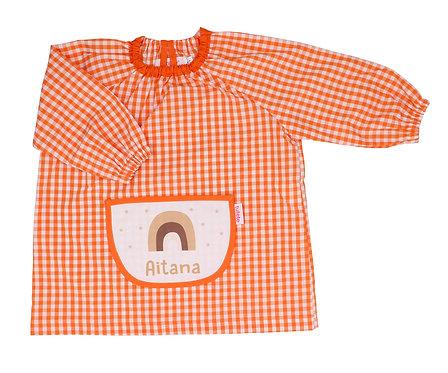 Babi con Bolsillo Central Arcoíris Naranja Personalizado